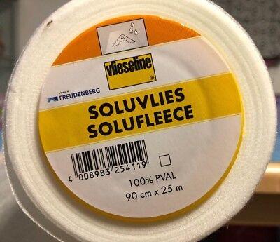 0,5m SOLUVLIES 321 Freudenberg wasserlösliches Stickvlies 90cm breit Vlieseline
