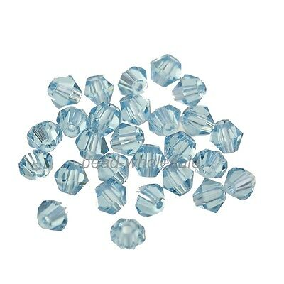 100pcs loose glass crystal bicone spacer beads 4mm For Diy Jewelry Marking