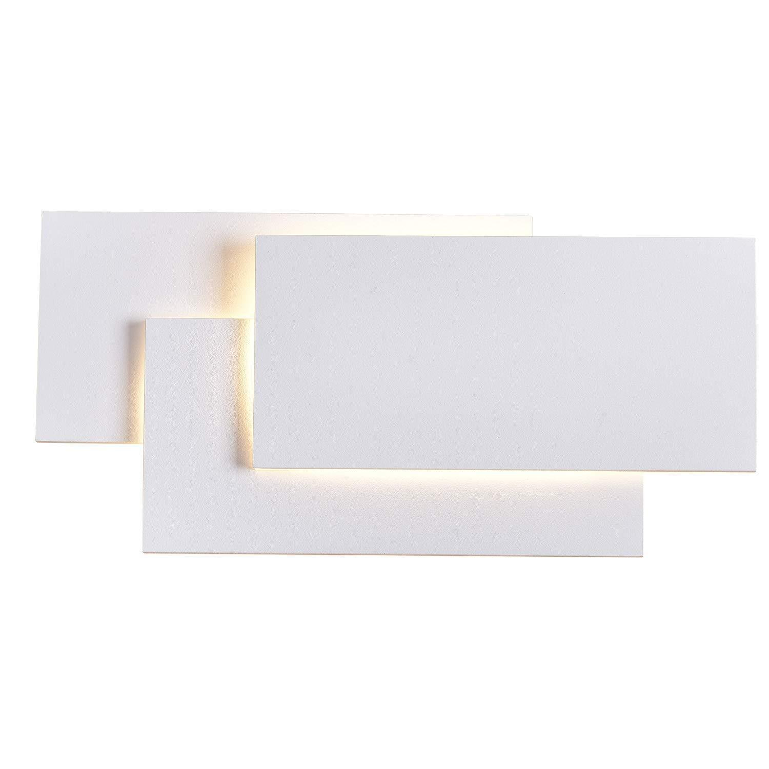 SOLFART LED up Down Wall Lights Indoor Wall Sconce Lamps Bedroom Living Room (J)