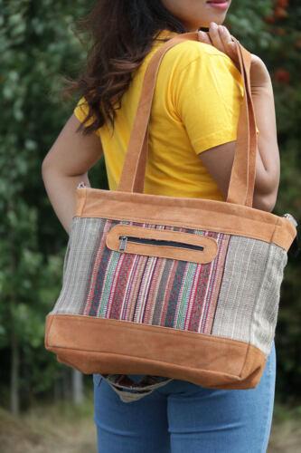 Ladies Women Bag Hemp Tote  Shopping Beach Casual shoulder Summer Hand Bag