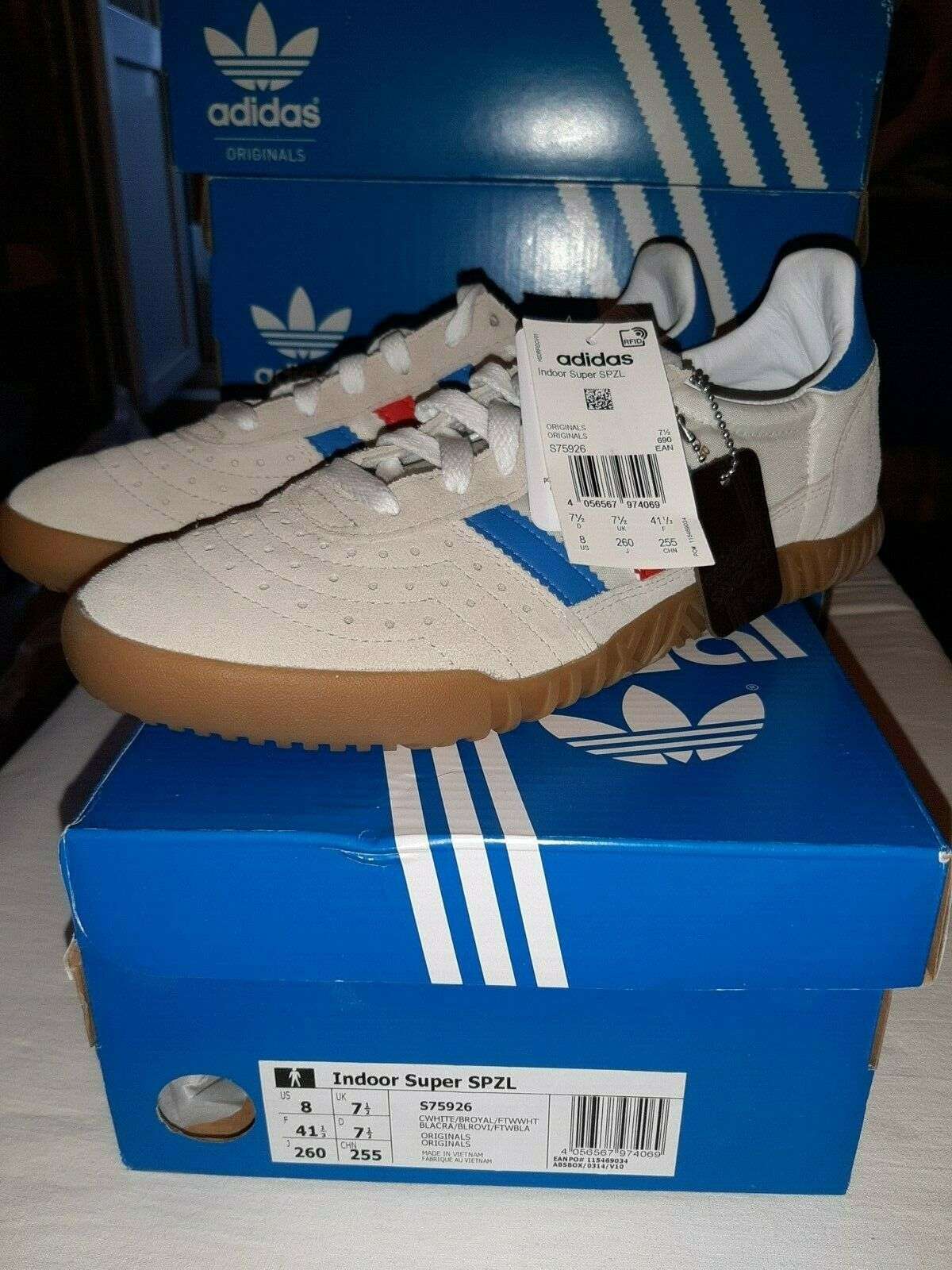 Adidas indoor Super X Spezial S75926 UK 7,5 US 8 spzl EntièreHommest neuf dans sa boîte