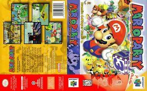 - Mario Party N64 Juego De Reemplazo Estuche caja + portada sólo obra de arte