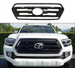 Gloss Black Grille Overlay Trim FOR 2020 2021 Toyota Tacoma SR / SR5 / Limited