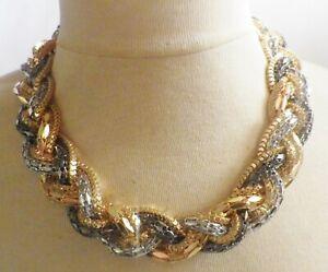 collier-retro-couleur-de-3-ors-blanc-jaune-rose-grosses-mailles-tresses-B1