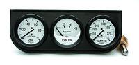 Auto Meter Autogage Oil /volt /water Trio White Gauge With Black Console 2-1/16