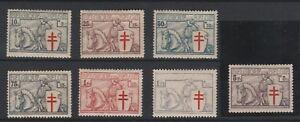 FRANCOBOLLI-1934-BELGIO-ANTITUBERCOLARI-MNH-Z-9316