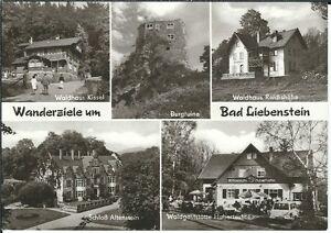 Ansichtskarte-Bad-Liebenstein-Waldhaus-Kittel-Reichshoehe-Hubertushof-s-w