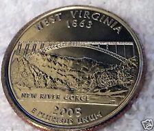2005-D 25C West Virginia 50 States Quarter