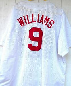 new style d11fe 24653 Details about BOSTON RED SOX TED WILLIAMS # 9 BASEBALL JERSEY WHITE AND RED  SIZE XXLG