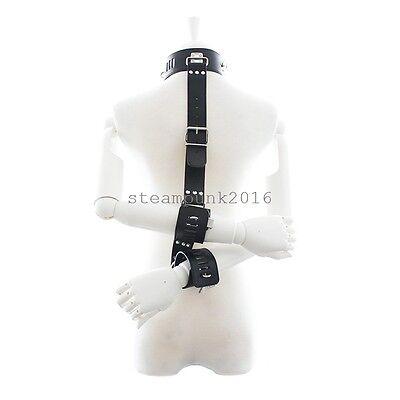 Health & Beauty Health Care Locked Neck Collar To Hand Restraint Wrist Cuffs Slave Harness Bondage Fantasy Online Shop