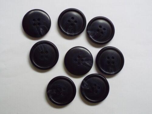 8pc 20 mm Dark Gris Ardoise factices Horn Manteau Suit Cardigan Knitwear Bouton 4188