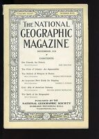 Vintage. NATIONAL GEOGRAPHIC. NOVEMBER 1918. France, religion in Russia, coal