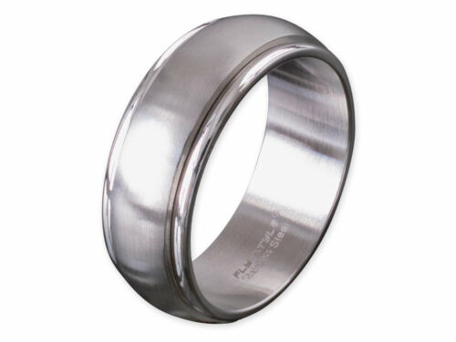 Stainless Steel Ring Spinning Rotating Band Ring Partner Friendship Ring Silver