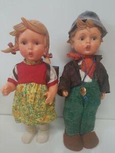 TWO-VINTAGE-GERMAN-HUMMEL-BOY-AND-GIRL-DOLLS-GOEBEL-12-034