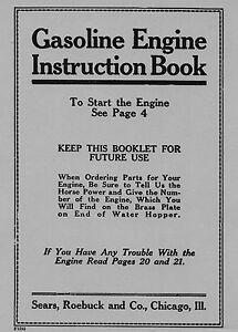 Economy-Gasoline-Engine-Instruction-Book