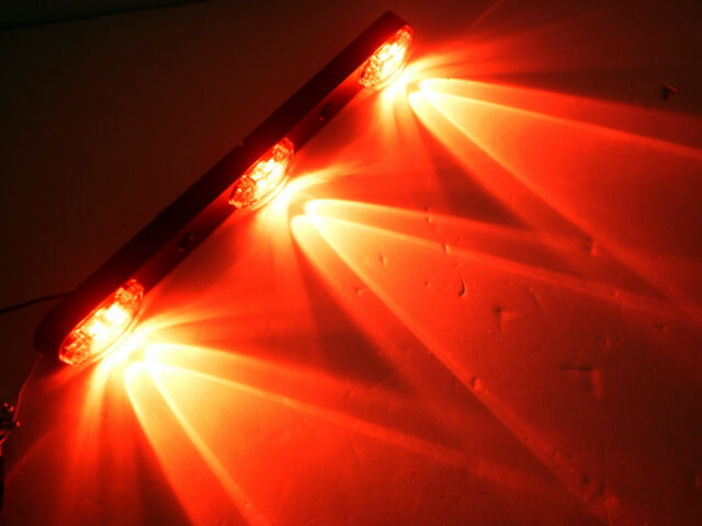 LED 3 Light ID Bar Red 1 x 2.5 oval Trailer Truck Boat Flatbed RV Cargo Bright