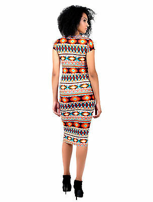 WOMENS LADIES CELEB SAM FAIERS TIE DYE AZTEC PRINT BODYCON LONG MIDI MAXI DRESS