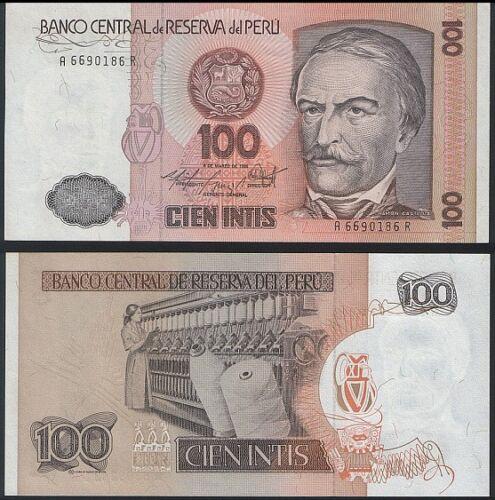 Peru P 128-10 Intis 1986 UNC