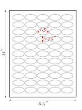 8 Sheets 15 X 075 Oval Blank Sticker Labels White Matte Finish