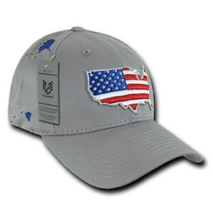Us Rapdom Low Crown The Glove Cap Usa Drapeau Casquette Grey-afficher Le Titre D'origine