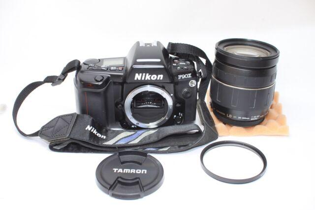 Nikon F90X / N90S 35mm SLR Film Camera Body Tamron 28-300mm F/3.5-6.3 Macro Lens