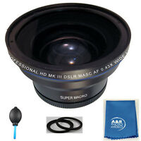 58mm 0.43x Pro Hd Wide Angle Lens Fisheye W/ Macro For Canon T5i T5 T4i 70d 7d