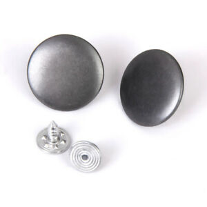 12 Sets 20mm Denim Jeans Craft Buttons Stud Hammer On Snap No Sew Silver