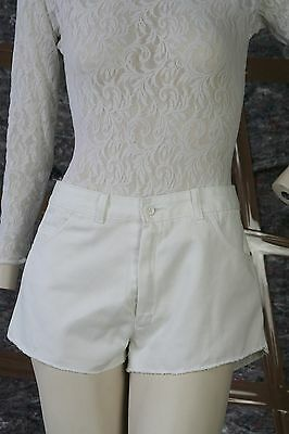Arrow Donna Jeans Corti Shorts White Culotte True Vintage Short Jeans Trousers-mostra Il Titolo Originale