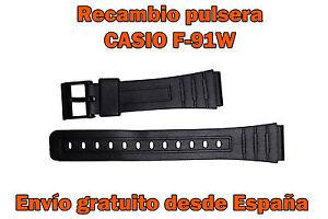 Casio Reloj F91w Detalles De Pulsera Negro Correa Vintage Retro MLzVSUpGq