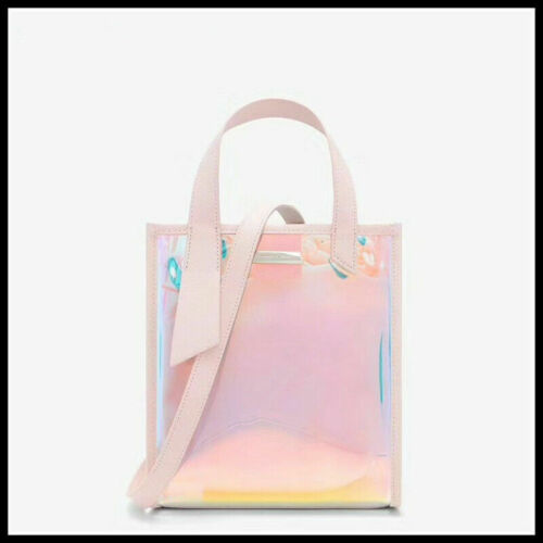 6pc Iridescent Holographic Shiny PU Leather Fabric Bow Craft Bag Earring 20*15cm