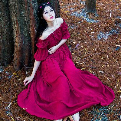 Japanese Vintage Elegant Mori Girl Off collar Sweet Lolita Fairy Princess Dress