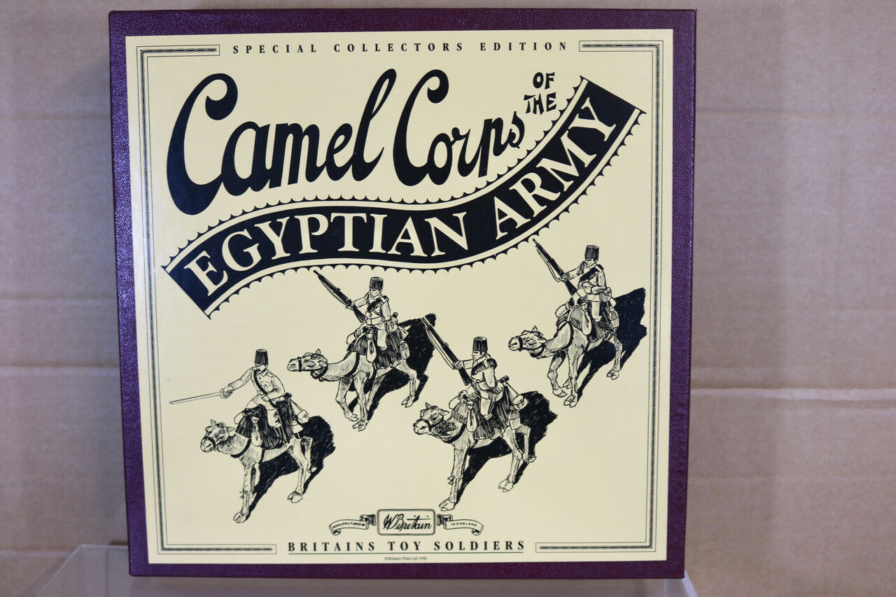 Britains 8872 Camel Corps Of The Egiziano Esercito 1896 Set Menta in Scatola Nn