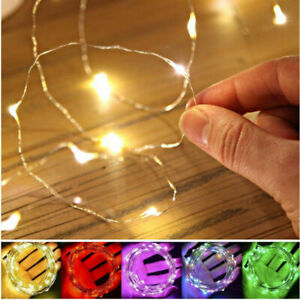 20-50-100-LED-33ft-MICRO-WIRE-STRING-FAIRY-PARTY-XMAS-WEDDING-CHRISTMAS-LIGHT