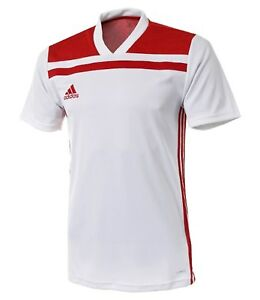 Details about Adidas Men Regista 18 Shirts S/S Soccer Jersey White Red Tee Top Shirt CE8969