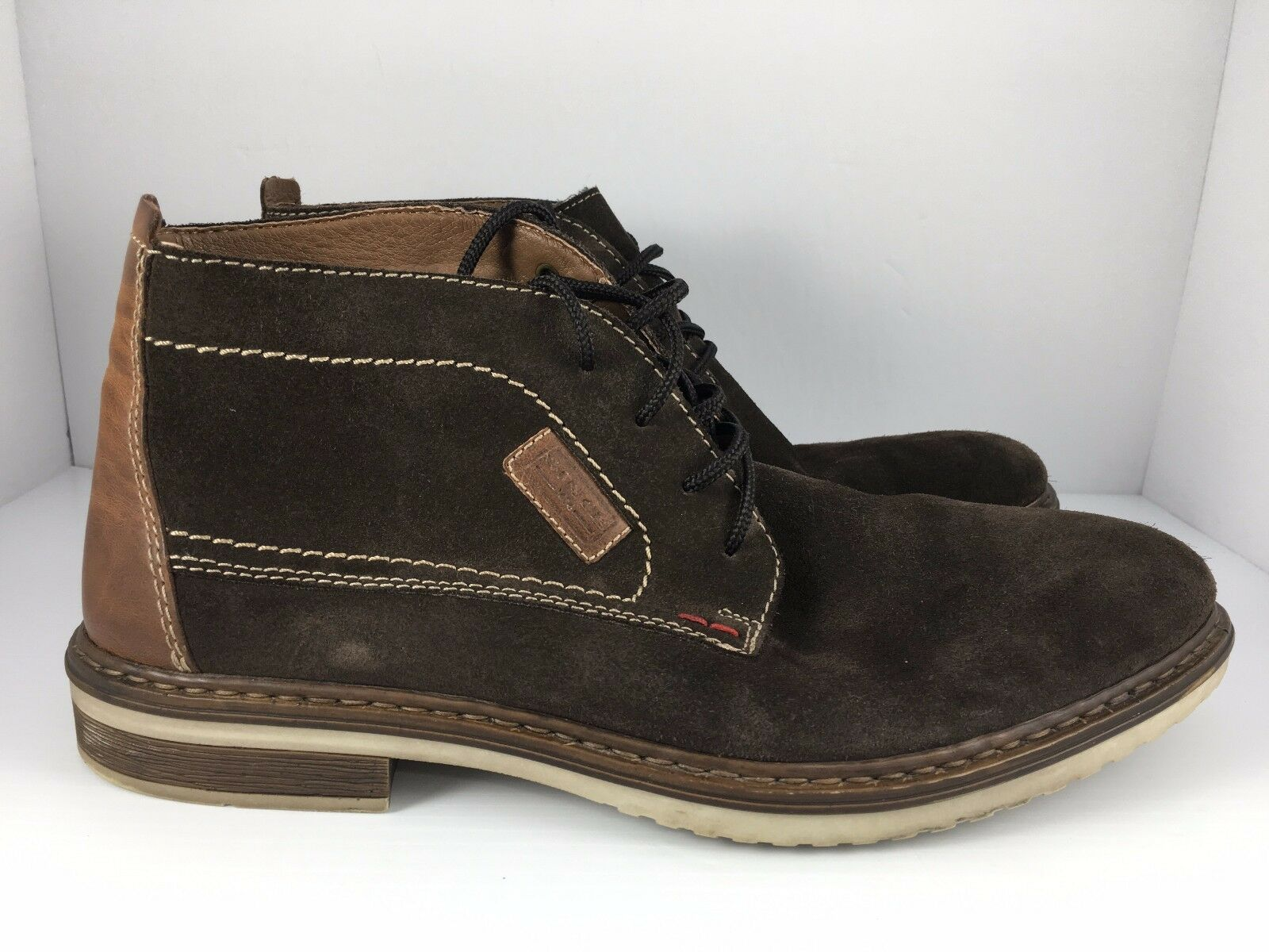 RIEKER US 10 Brown Suede Leather Ankle Chukka Boots  J16