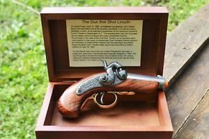Details about Baby Philadelphia Derringer Abraham Lincoln Assassination Box  Set Denix Replica