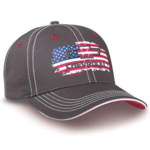 03b7d85c2 Details about Chevrolet Salute USA Flag Gray Baseball Cap