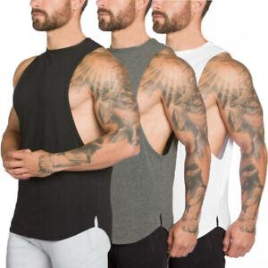UK Men Gym Muscle Shirt Tank Sleeveless Top Bodybuilding Sport Fitness Vest