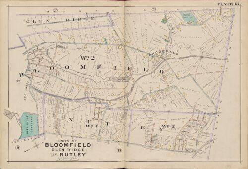 ESSEX COUNTY NJ UPPER MONTCLAIR CC ATLAS MAP 1906 BLOOMFIELD GLEN RIDGE NUTLEY
