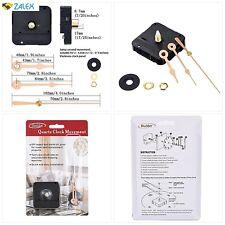 17//25 Inch Total Shaft Length 6//25 Inch Maximum Dial Thickness Mudder Black 2 Hands DIY Quartz Clock Movement