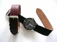 1pc RAF Military Bomber Pilot leather Bund nato utc watch band strap IW SUISSE