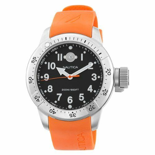 Nautica Men's Diver Box Set Orange Watch N14508