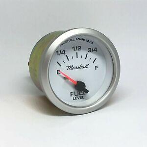Marshall-2-1-16-034-Fuel-Level-Gauge-White-Dial-Silver-Bezel-20-150-ohm-2246
