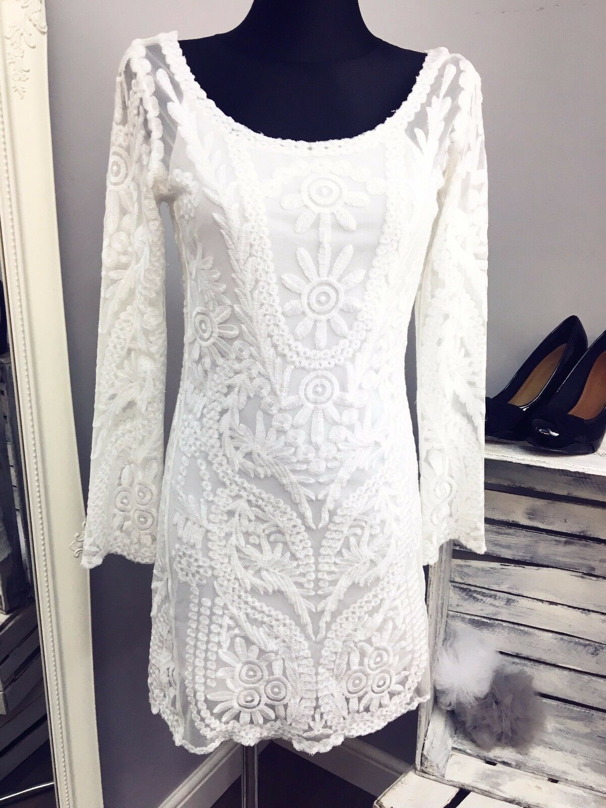 ff25de42a01c Glamgoldus Long Sleeve Dress RRP (AS-45 2) ASOS Lace nnpuay2346 ...