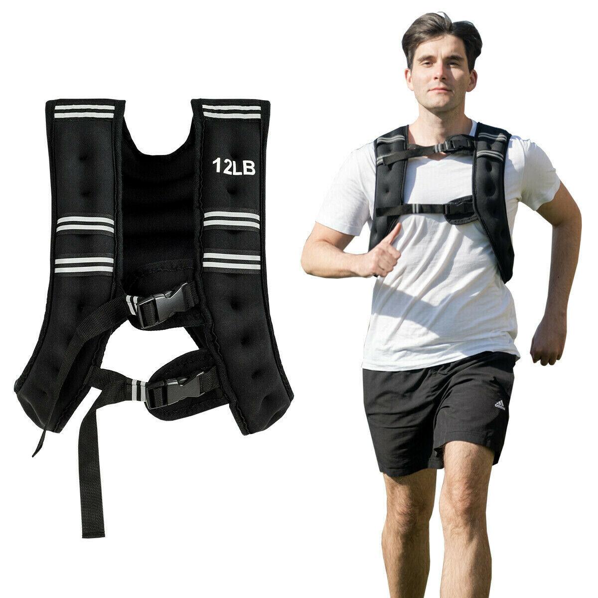 CHALECO con con con Pesas DE 12Lbs PARA Caminar Correr Hacer ejercicio alta resistencia 0ce