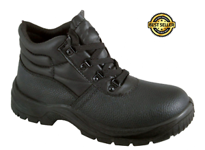 Work Boots Leather Steel Toe Cap