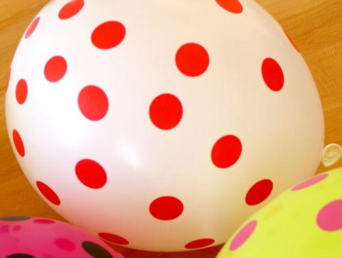 10 Luftballons Bunt mit Punkten Dekoration zum Kinder Geburtstag Farbig// Latex