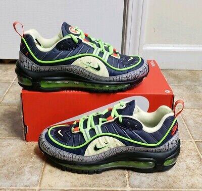 Nike Air Max 98 Halloween GRIDIRON/BLACK/NAVY GS Youth 6Y NEW CT1171-001  NOLID | eBay