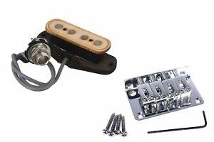 Cigar-Box-Guitar-4-String-Wooden-Pickup-Bundle-with-Hard-tail-Bridge