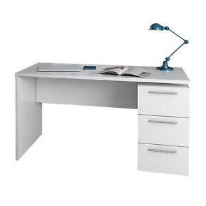 Mesa-de-despacho-con-3-cajoneras-blanco-brillo-Mesa-ordenador-oficina-estudio